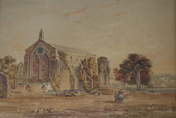 Old painting of Binham Priory