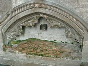 Tomb at St Andrew's, Heckington: Richard de Potesgrave, rector from 1308 to 1345, who became chaplain to Edward III