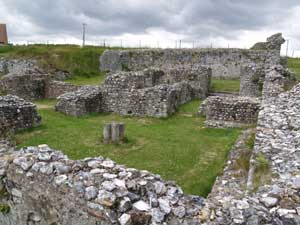 Cellarers range with large structure at the back , and rooms in between