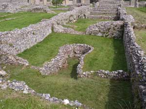 Kiln, looking North down whole range of buildings
