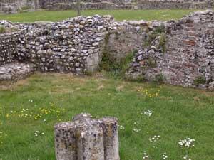 Blocked doorway to cloister