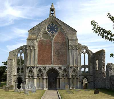 The West front of the priory as it is today.