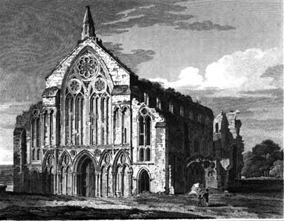 Woolnooth engraving of 1811 based on the Buck engraving of 1738 printed by Britton in Architectural Antiquities of Great Britain vol 3